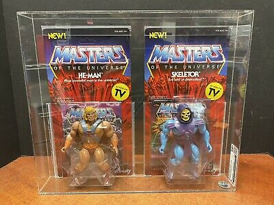 $249.95 • Buy Super 7 Masters Of The Universe He-Man & Skeletor CAS 90+ Equal To AFA EM6058