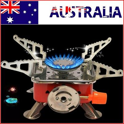 AU19.99 • Buy Mini Camping Stove Outdoor Picnic Gas Burner Portable Hiking Cooker Outdoor BBQ