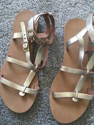 Gold Leather Gladiator Sandals From Office New With Box Size 4 • 9.99£