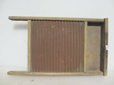 £40 • Buy Vintage Wooden Washboard Brass & Wood Antique Clothes Washer Old