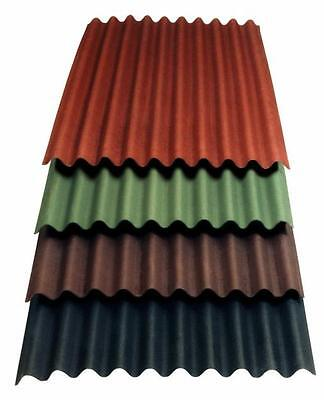 £11.95 • Buy CORRUGATED BITUMEN ROOFING SHEET Clear/Black/Brown/Green/Red 930mm X 2000mm