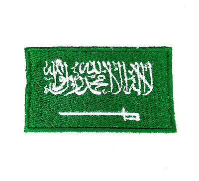 £2.49 • Buy Saudi Arabia National Country Flag Iron Sew On Embroidered Patch