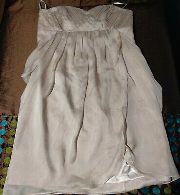 AU20 • Buy FOREVER NEW Silver Blush Silk Dress, Size 16, With Tags, As New