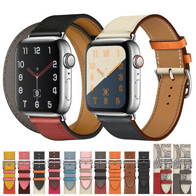 $ CDN6.26 • Buy For Apple Watch Band 38/40/42/44mm IWatch Series 6 5 4 3 2 1 SE Leather Strap