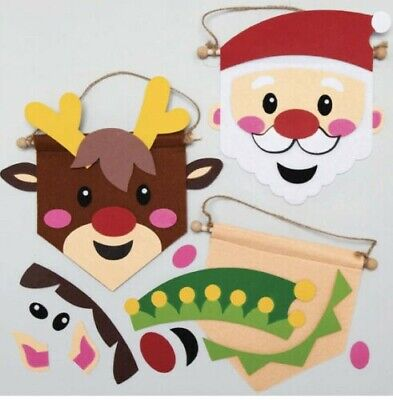 £2.50 • Buy Christmas Banner Kit Tree Deco Arts And Craft Make 1 Hanging Banner Decoration