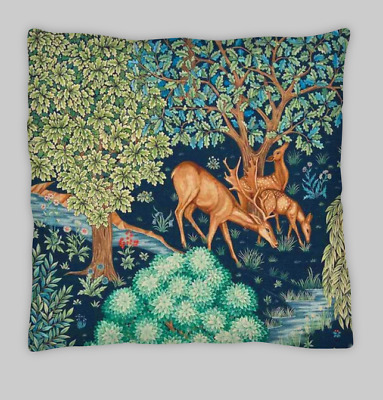£7.99 • Buy William Morris Style Linen Blend Double Sided Cushion Covers 45x45cm (18X18)