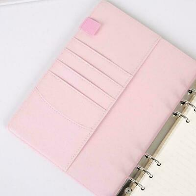 AU10.60 • Buy A5/A6 Leather Loose-Leaf Ring-Binder-Notebook Macaron Colour Diary Planner G1I3