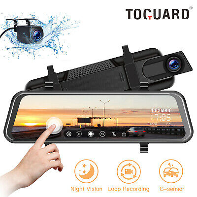 AU79.99 • Buy 10  Mirror Dash Cam TOGUARD RearView Car Streaming Touch Screen Dual Lens Camera