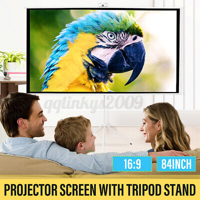 AU102.99 • Buy 16:9 84inch Outdoor Portable 3D HD Projector Screen Tripod Stand Home Theater
