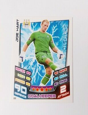 £1 • Buy Match Attax Premier League 2012/13 Joe Hart Manchester City No 111 Base Card