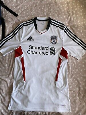 Liverpool FC Training Shirt Large Adidas Standard Chartered • 10£