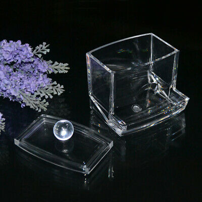 $ CDN8.45 • Buy Clear Acrylic Q-tip Holder Box Cotton Swabs Stick Storage Makeup HF Cosmetic