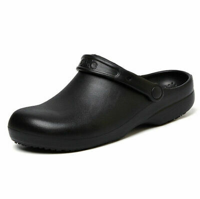 £19.99 • Buy Work Clogs Mens Women Chef Specialist Slippers Slip On Shoes Non-slip Closed Toe