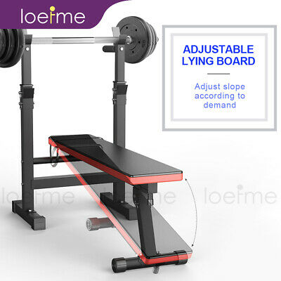 £59.99 • Buy Folding Weight Bench Incline/Decline Bench Press Sit Up Bench With Barbell Rack