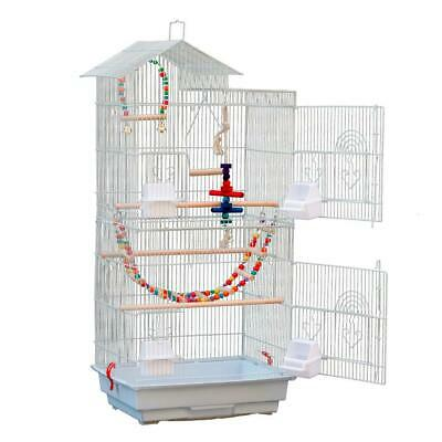 £32.99 • Buy Large Metal Bird Cage Parrot Lovebird Canary Cage Budgie Finch Cockatiel 3 Toys