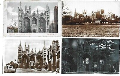 PETERBOROUGH Lot 4 Early Cambridgeshire Postcard Cathedral • 3.99£