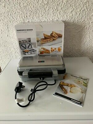 £40 • Buy Cuisinart DEEP FILL Sandwich Toaster Brushed Stainless Steel / Silver New