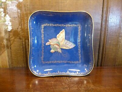 £185 • Buy ANTIQUE EXCELLENT Wedgwood BUTTERFLY LUSTRE Powder Blue & Gilt DISH - 21.5cms B