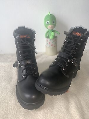 $ CDN84.63 • Buy Vintage Harley Davidson Motorcycle 91003 Black Leather Boots Men's 11