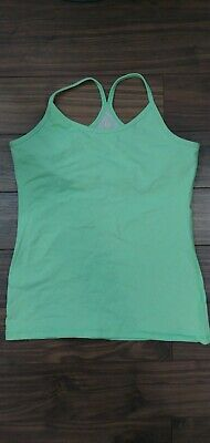 $ CDN24.17 • Buy LULULEMON Womens  GREEN RACERBACK Tank Top SIZE 8 Built In Bra Yoga/Fitness EUC