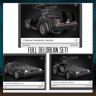 $400 • Buy VeVe NFT SOLD OUT DeLorean Back To The Future FULL SET Of 3 - UR/R/C