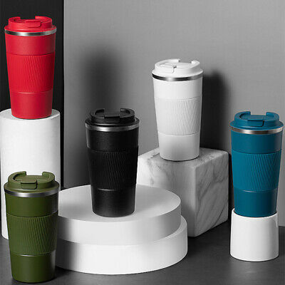 AU23.59 • Buy Insulated Travel Coffee Mug Cup Stainless Steel Thermal Flask Vacuum Thermos Hot