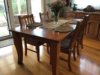 AU200 • Buy Solid Pine Dining Table And 8 Chairs