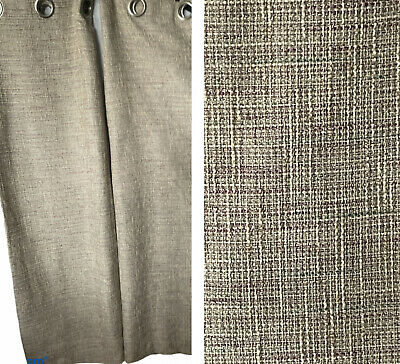 £40 • Buy DUNELM MILL Woven Beige Green Purple Eyelet Lined Pair Curtains W 66  X L 54