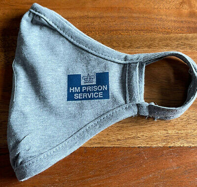 £4 • Buy Hmp Prison Face Mask Washable Grey Issue