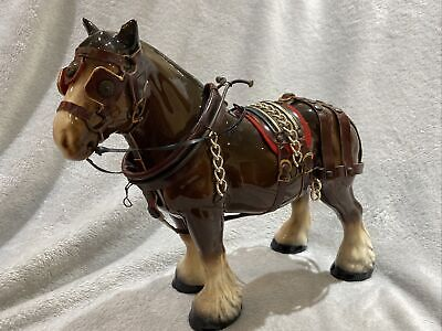 Brown Melba England Pottery Large Shire Horse FigurinE In EXCELLENT CONDITION!! • 40£