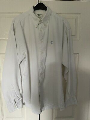 Mens YSL Yves Saint Laurant White Shirt Extra Large • 8.95£