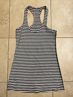 $ CDN10.76 • Buy Womens Lululemon Tank Top Size 4 Striped Yoga Running Fitness