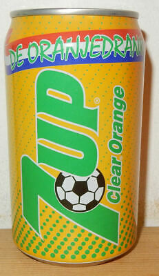 AU3.18 • Buy Clear Oranje Soccer 7UP Can From HOLLAND (33cl)