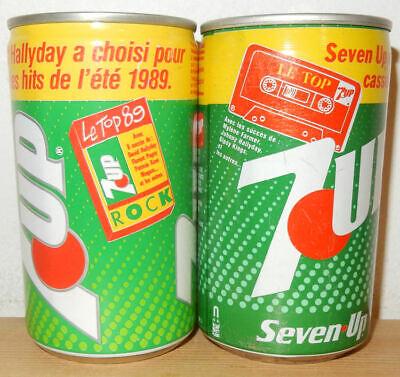 AU6.36 • Buy 2 Older 7UP Cans From FRANCE (33cl)