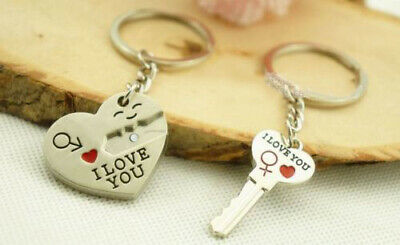 £2.89 • Buy Lovers Gift Keyring - I Love You Couples Boyfriends Girlfriends Anniversary