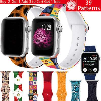 AU3.19 • Buy For Apple Watch Band Series 6 5 4 3 SE  Silicone IWatch Sport Strap 38 40 42 44
