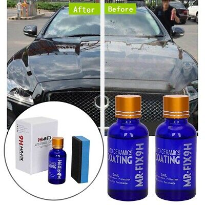 AU23.18 • Buy Auto Liquid Ceramic Coating Nano Glass Hydrophobic Polish 30ML 9H Windshield Set