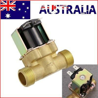AU18.59 • Buy 1/2  DC 12V 2-Way Quick Connect Normally Closed Brass Electric Solenoid Valve