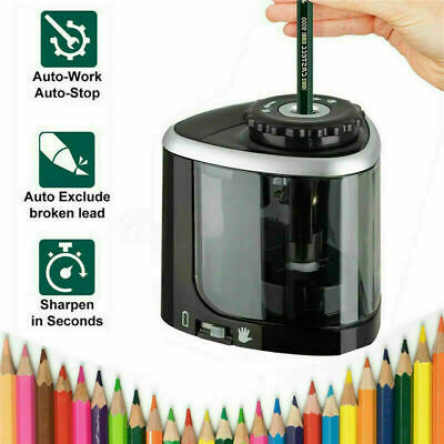 £6.55 • Buy Electric Pencil Sharpener Automatic Touch Switch Battery Power Office Classroom