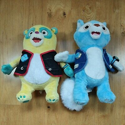 "£34.99 • Buy Wolfie & Oso From Special Agent Oso 16"" Soft Plush Toys Disney Store GC"