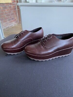 £9.99 • Buy Funky Camper Wine Red Lace Up Shoes Size 40/6