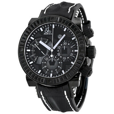 £4414.77 • Buy New Mens Jacob & Co. Rare Epic II Chronograph PVD Steel Black Spinel Baguettes
