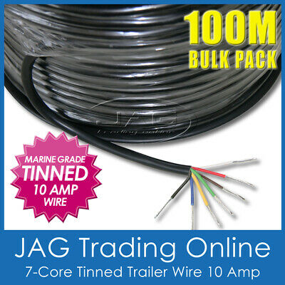 AU269.95 • Buy 100m 7-core Tinned Trailer Wire Marine Grade-auto/boat/caravan Electrical Cable