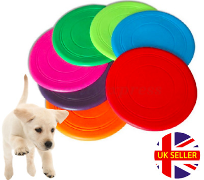£2.98 • Buy Soft Silicone Thin Flying Disc / Flexible Rubber Fetch Frisbee - Small Dog Puppy