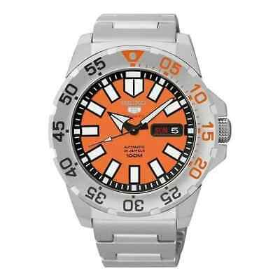 $ CDN423.48 • Buy SEIKO 5 Sports SRP483K1 Orange Dial Baby Mini Monster Automatic Watch 4R36 NOS