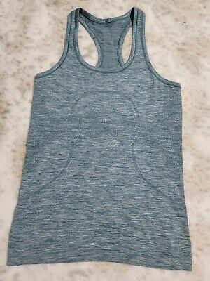 $ CDN33.85 • Buy LULULEMON Run Swiftly  Set Your Goals Earn Your Shower Tank Top Size 4 Womens
