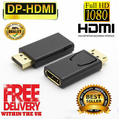 £3.89 • Buy 1080P Display Port DP Male To HDMI Female Adapter Converter Cable For HDTV PC