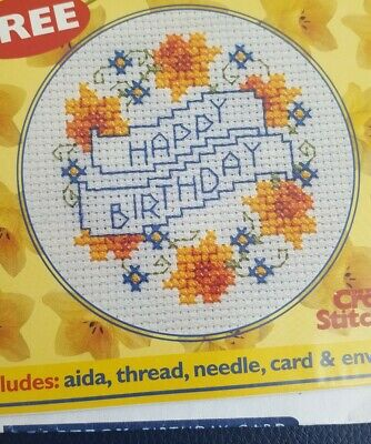£2.70 • Buy Cross Stitch Card Kit Happy Birthday
