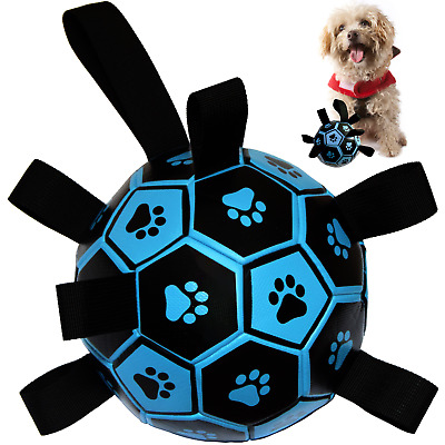 £15.99 • Buy Dog Toys, Dog Football, Interactive Fetch Toy With Tabs For Outdoor Water Sports