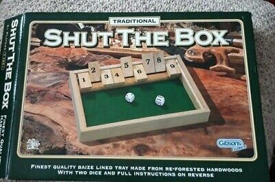 £5 • Buy Gibsons Games Shut The Box New